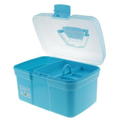 Clear Plastic Storage Case for Craft Sewing,Beads