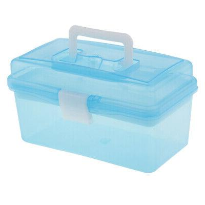 2x Plastic Box for Storage Paint, Craft Fishing Tackle,