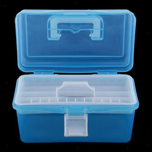 Clear Plastic Storage Boxes Case Tray for Craft Supply,Tool, Sewing