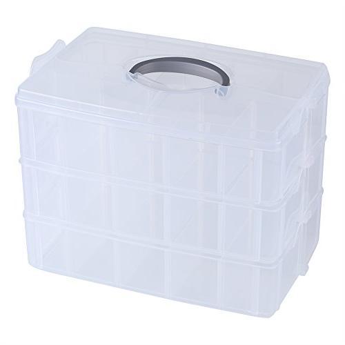 clear plastic storage three