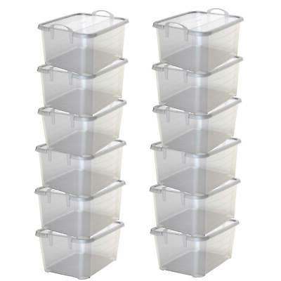 clear stackable closet and storage box 55