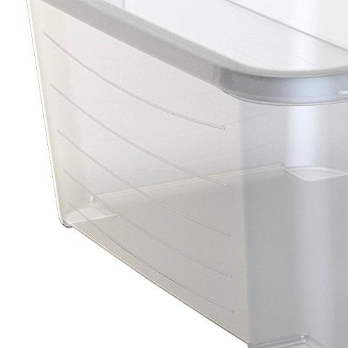 Life Story Clear Stackable Closet & 55 Quart Containers,