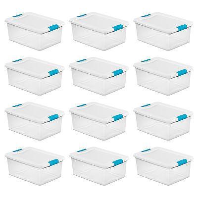Sterilite 15-Qt. Clear Stackable Latching Storage Box Contai