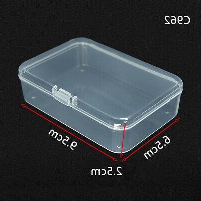 Clear Storage Card Case Holder Box Office Supply