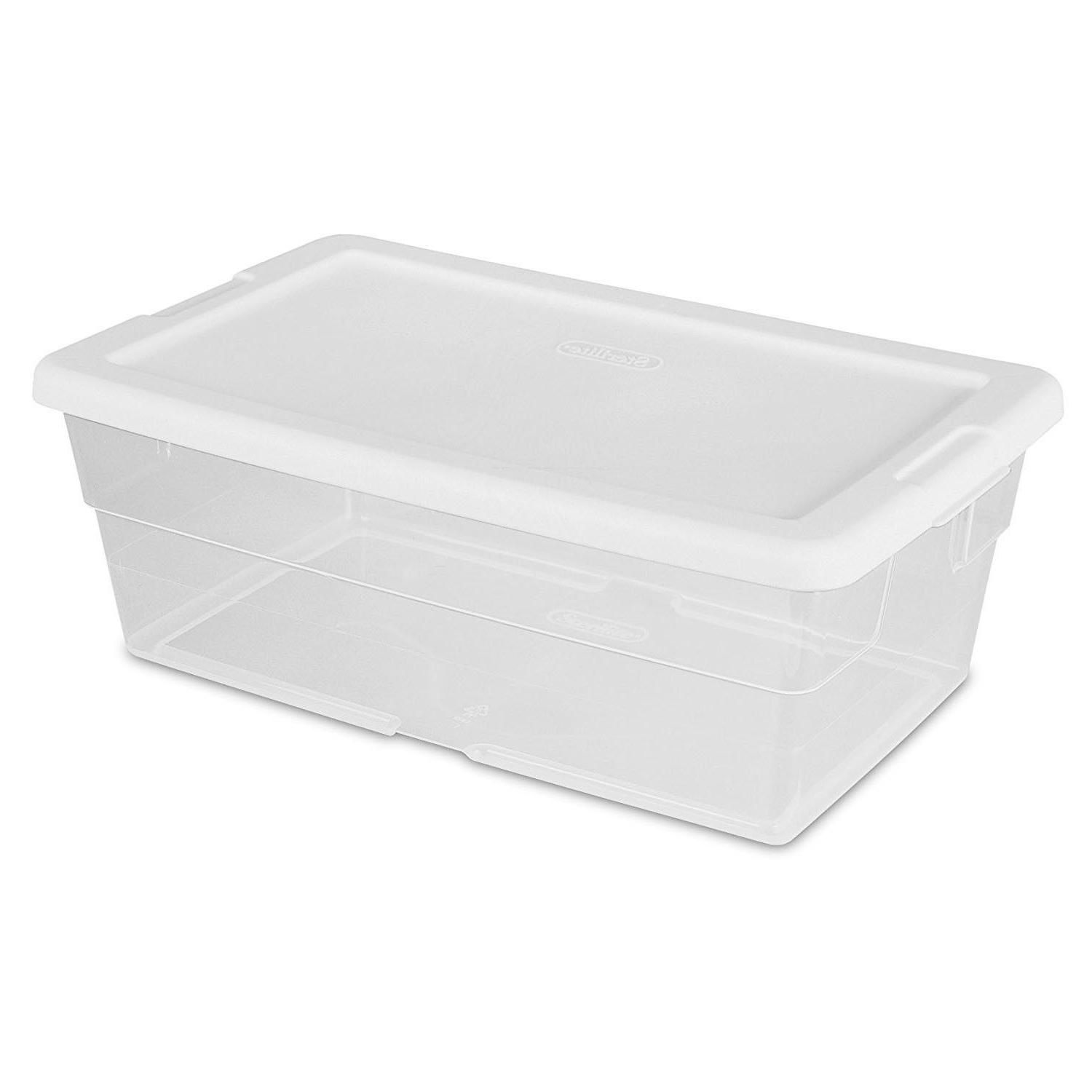 Clear Storage w/Lid Bin Shoe Supplies Organizer Box