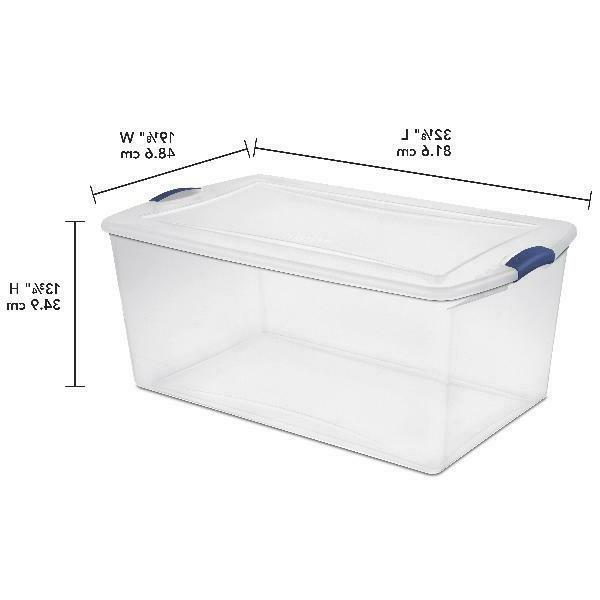 Clear Storage Box with Stackable of 4