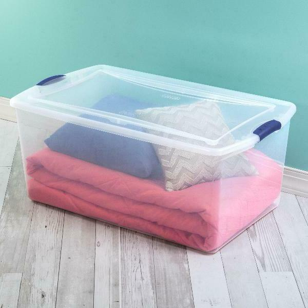 Clear Storage Box with Stackable of