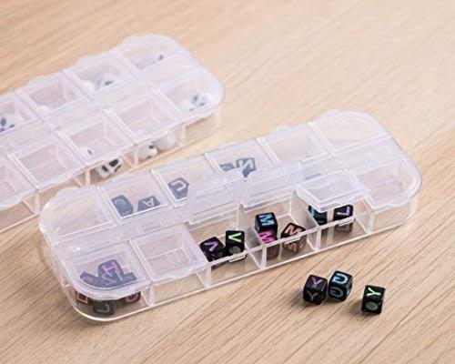 Clear Jewelry 10-Pack Container, Earrings Storage Jewelry Compartments 2.25 5.25