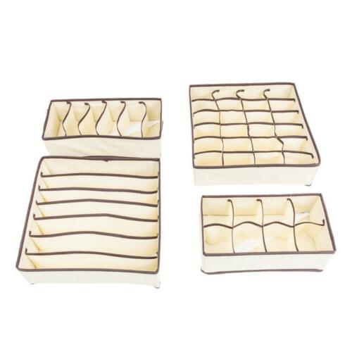 4Pcs Collapsible Drawer Dividers Set