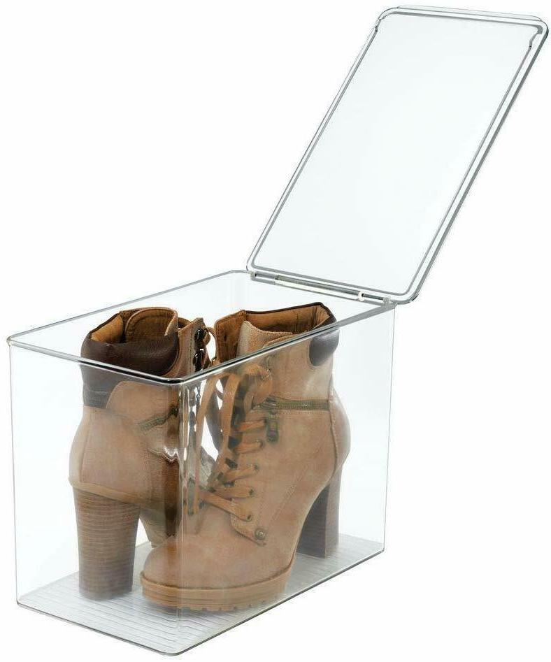 mDesign Closet Storage Shoe Box, for High Heels, (FL