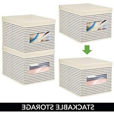 MDesign Fabric Stackable Storage Organizer Box