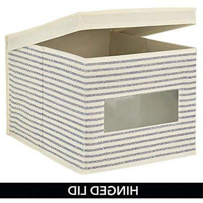 MDesign Closet Fabric Stackable Box With