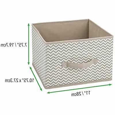 MDesign Systems Fabric Organizer Cube Box, -