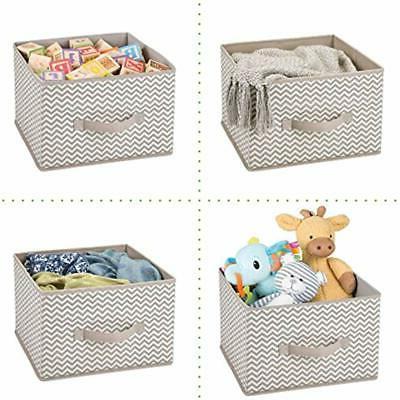 MDesign Closet Fabric Storage Cube Box, Open -