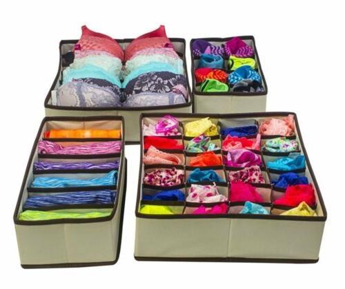 Closet Underwear Organizer Drawer Divider Set Underwear Bras Socks