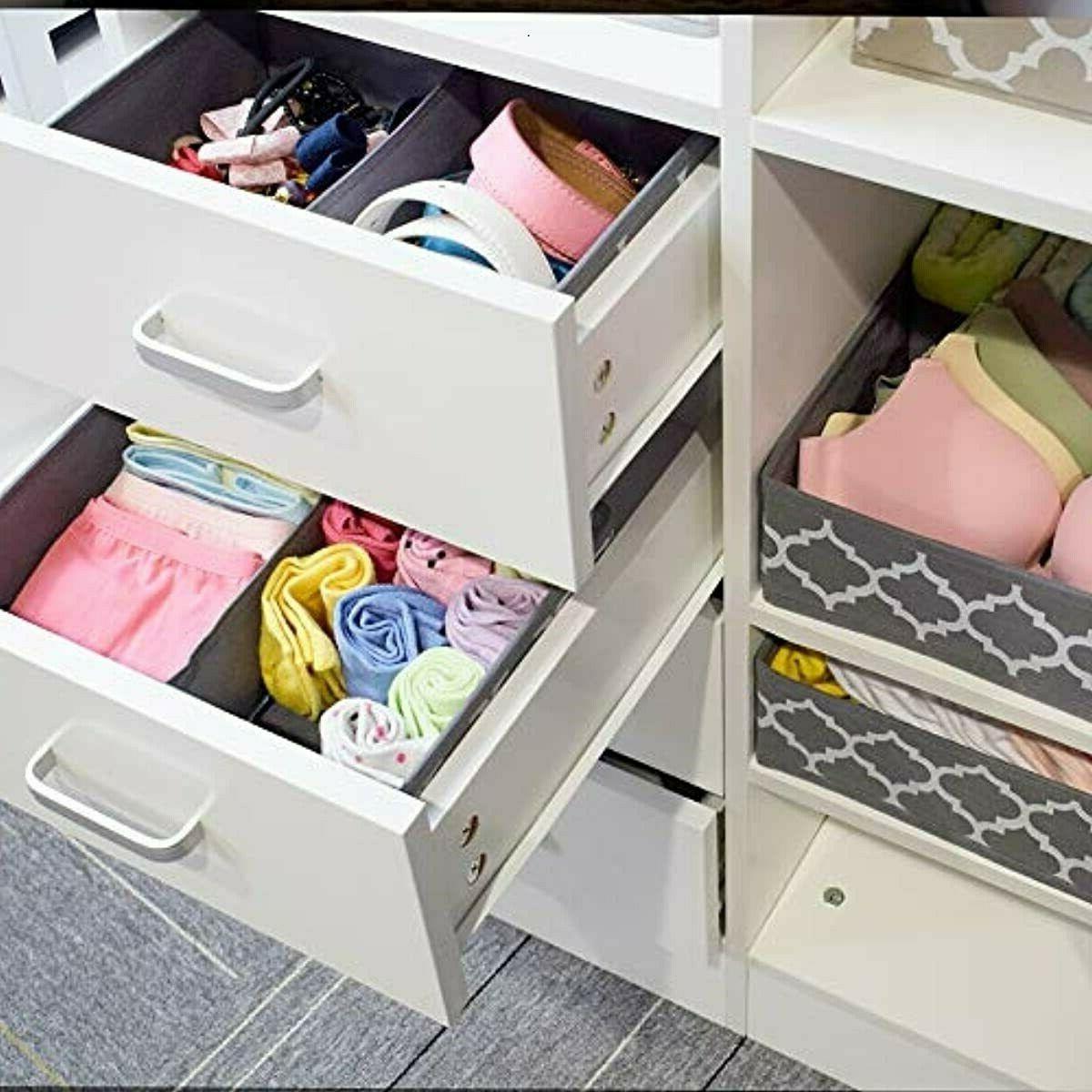 homyfort Drawer Dividers, Foldable Dresser Storage Box