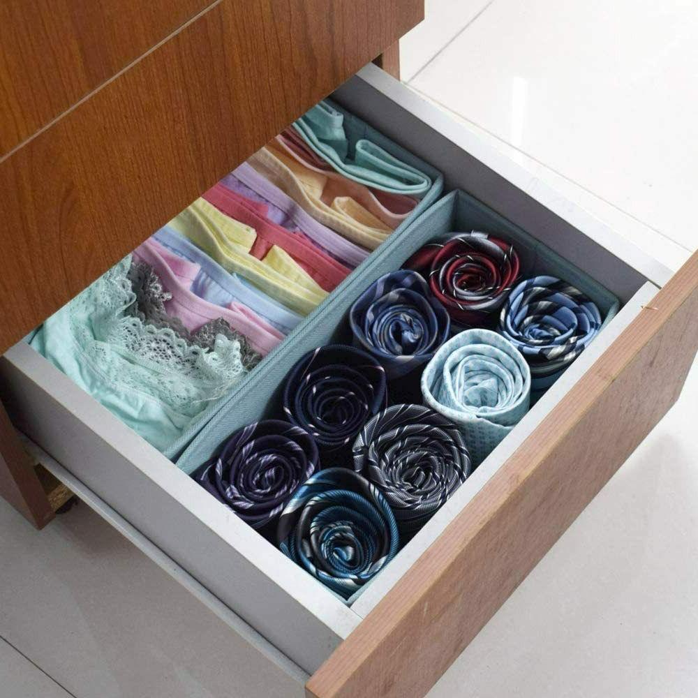 Clothes Organizer Dividers,Foldable Closet Dresser Bins Cubes