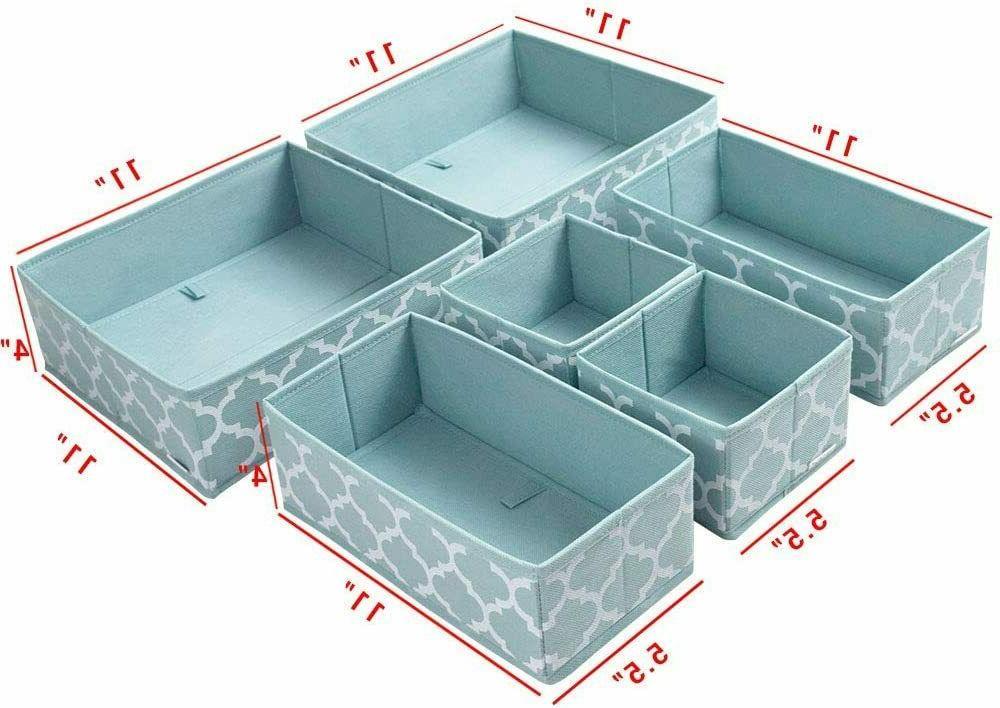 Clothes Drawer Organizer Dividers,Foldable Closet Dresser Storage Box Bins