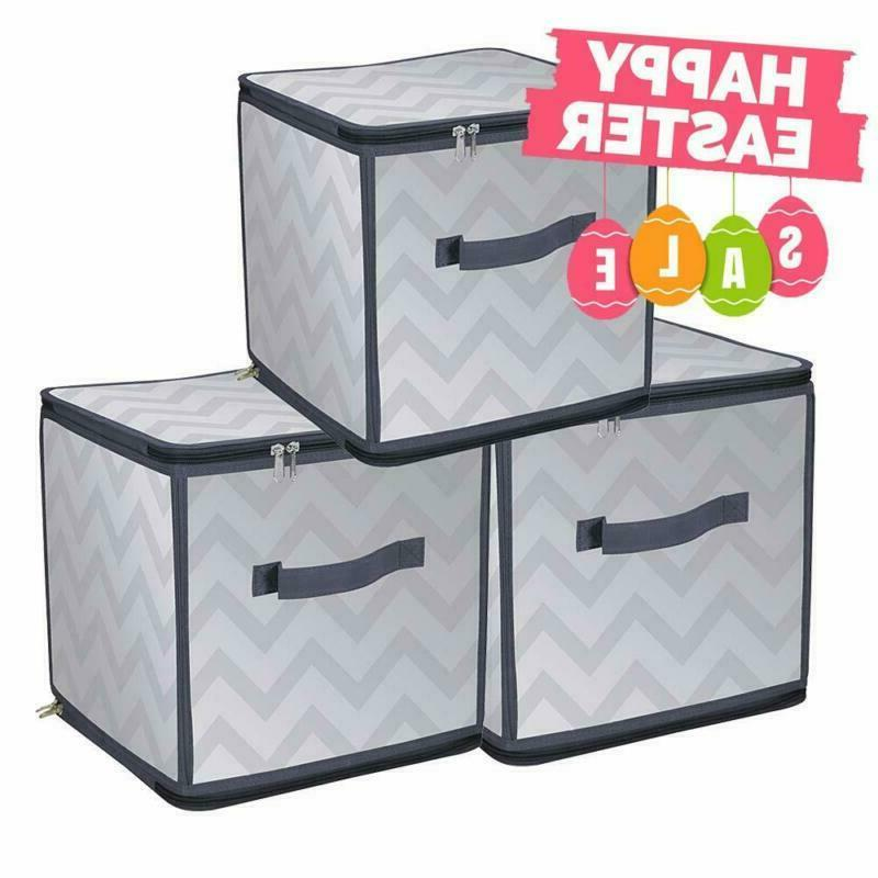 Collapsible Bins Baskets Box Cube For Home Closet Nursery Or