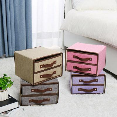 Collapsible Fabric Cube Bin Chest for Closet Organizer