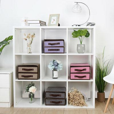 collapsible fabric 2 drawer storage cube bin