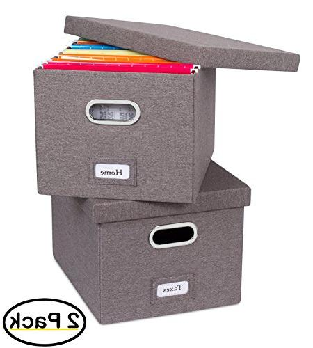 collapsible file storage decorative linen
