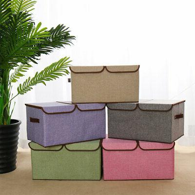 Collapsible Storage Bin Cube with Lids