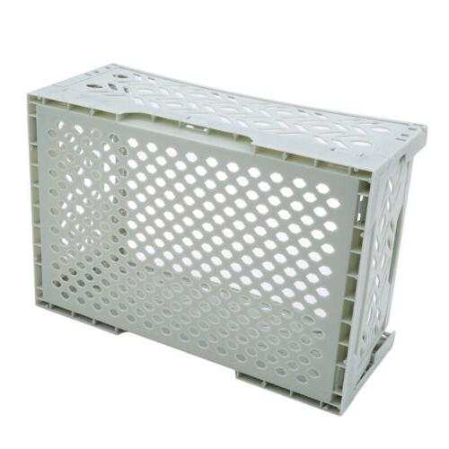 collapsible plastic storage crate box stackable home