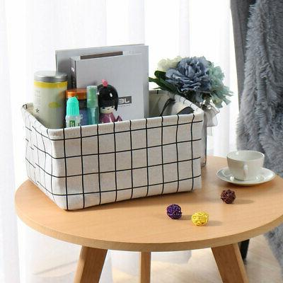 Collapsible Basket Bin Fabric Organizer Container for Shelves