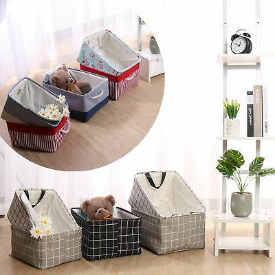 collapsible storage basket bin fabric toy organizer