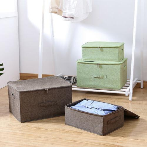 Collapsible Storage with Lid Fabric Organizer
