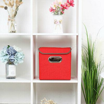 Collapsible Fabric Cube Organizer with Metal Handles