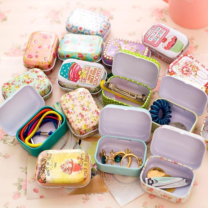 colorful mini tin font b box b