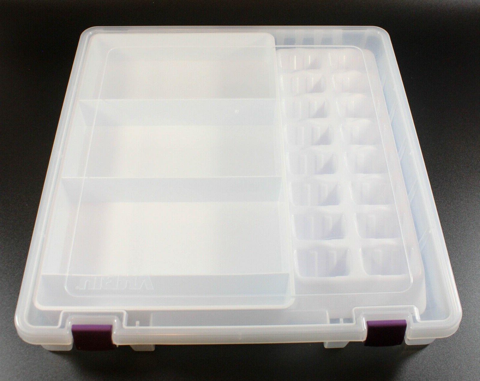 cricut cartridge overlay clear storage tote box