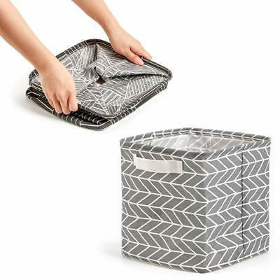 Cube Storage Collapsible Fabric Box Organizer Handles