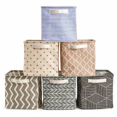 cube storage bin baskets collapsible fabric shelf