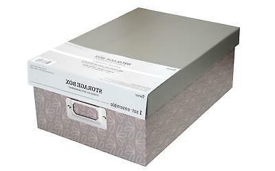 dar30032640 storage photo box 7 5x4x11 taupe