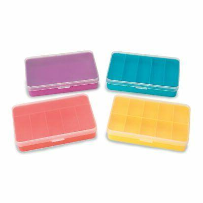 darice mini storage box 4 assorted styles