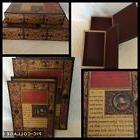 Deco 79 Wood Faux Leather & Wood Book Box, Multi, 12 by 9-In