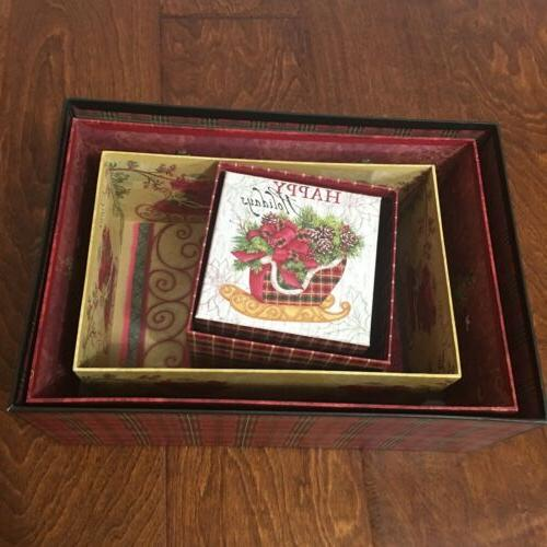Decorative Christmas Cardboard Gift Box Lid Keepsake