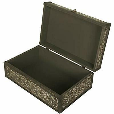 "Decorative Boxes Metal "" Wood 13"" Box/Trunk"