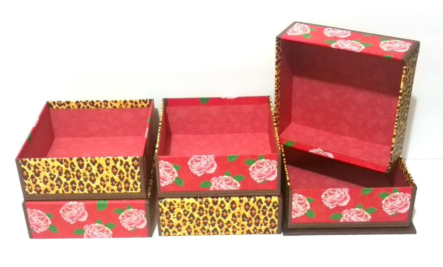 Decorative and Roses Print Unique Box, Punch Studio