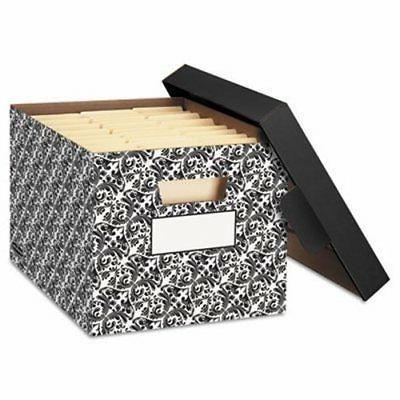 decorative medium duty storage boxes ltr black