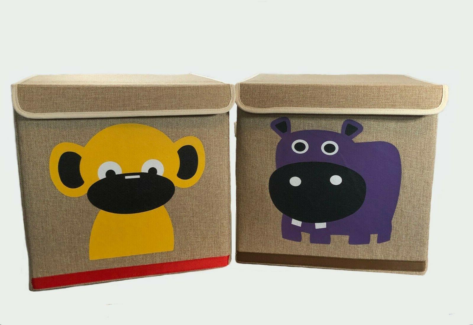 decorative storage cube boxes 2 piece set