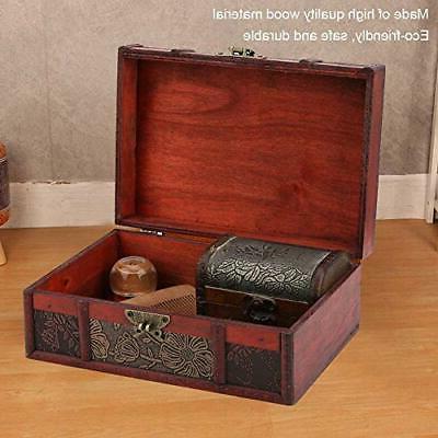 Decorative Box, Wooden Large Desktop Storage Boxes for