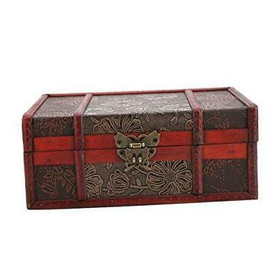 decorative treasure box vintage wooden large desktop