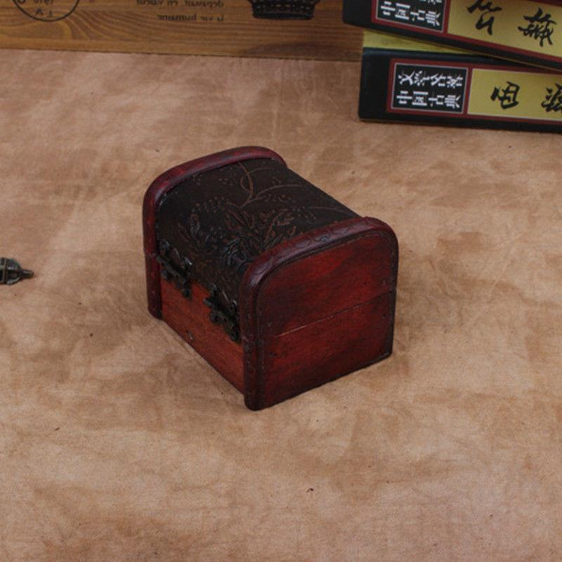 Decorative Boxes Small Wooden Storage Jewelry Box Treasure