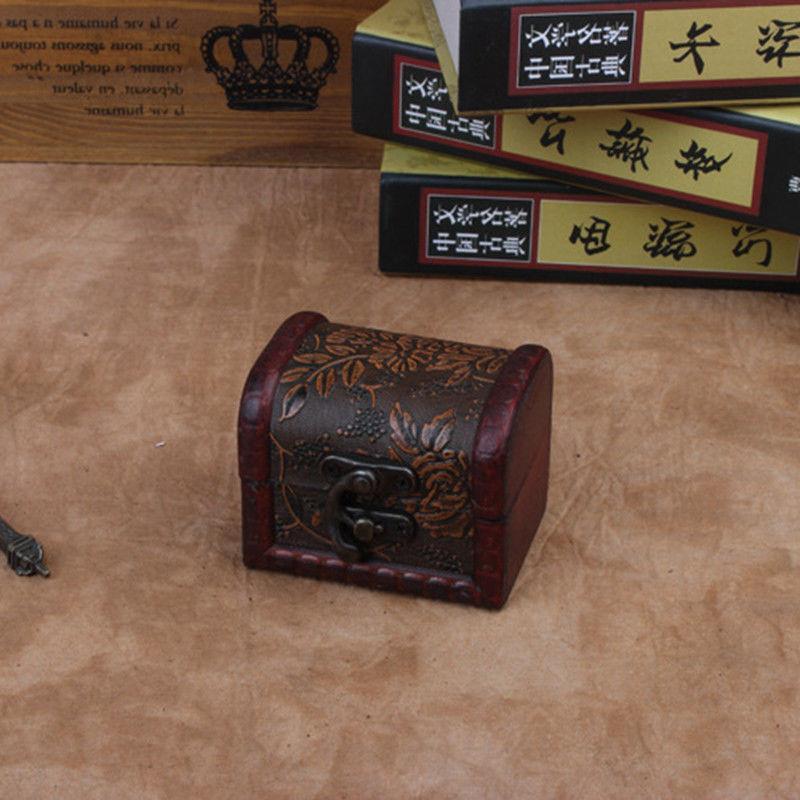 Decorative Vintage Small Jewelry Box Treasure Chest