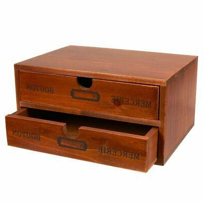 decorative wooden chest storage drawers