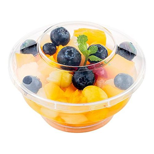 Deli Cups with Lids, To Go Cups - 6 oz - includes Lids - 100ct